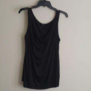 H&M Black drape front tank top